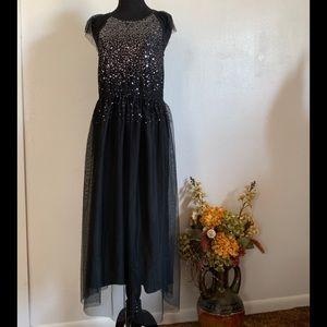 Cat&Jack black sequined long dress size XL(14-16)